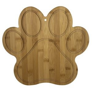 "10"" x 11"" - Bamboo Paw Print Cutting Boards - Laser Engraved Wood"
