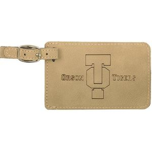"2.75"" x 4.25"" - Premium Leatherette Luggage Tag - Laser Engraved"