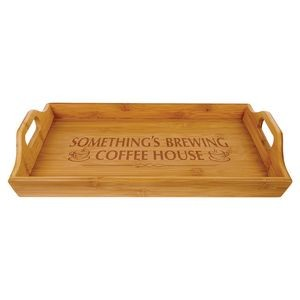 "9.75"" x 16.5"" - Bamboo Serving Tray - Laser Engraved"