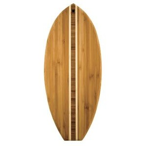 "6"" x 14.5"" - Bamboo Surfboard Cutting Boards - Laser Engraved Wood"
