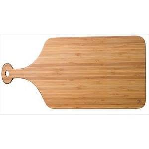 "10"" x 20"" - Dishwasher Safe Bamboo Paddle Cutting Boards - Laser Engraved Wood"