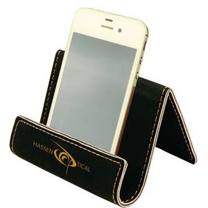"2.5"" x 3.5"" - Premium Leatherette Business Card or Cell Phone Holder - Laser Engraved"