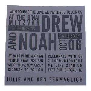 "4"" x 5"" - Premium Leatherette Invitations - Laser Engraved"