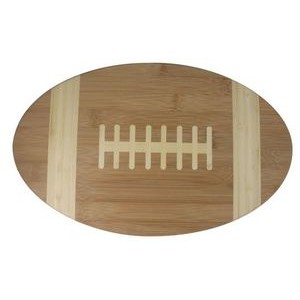 "8"" x 13"" - Bamboo Wood Football Cutting Board - Laser Engraved"