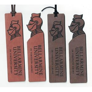 "1.5"" x 6"" - Color Printed Leatherette Bookmarks - USA-Made"
