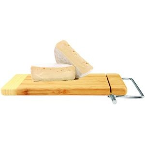 "6"" x 12"" - Wood Cheese Slicer - Bamboo - Laser Engraved"