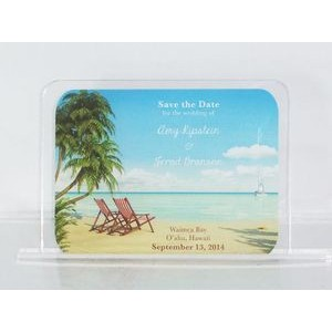 "2"" x 3.5"" - Clear Acrylic Invitations - Color Printed - USA-Made"