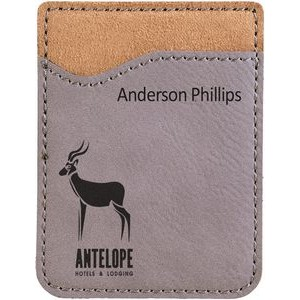 "2.375"" x 3.125"" - Premium Leatherette Phone Wallets - Laser Engraved"