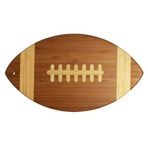 "8.5"" x 15"" - Bamboo Football Cutting Boards - Laser Engraved Wood"