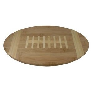 "8.75"" x 15"" - Bamboo Wood Football Cutting Board - Laser Engraved"