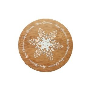 "3.75"" x 3.75"" - Bamboo Coasters - Round - Color Printed"