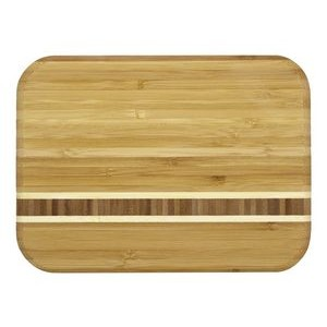 "6.5"" x 9"" - Bamboo Inlay Cutting Board - Laser Engraved Wood"